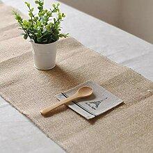 MAFYU Tischläufer,Vintage Mabre Seide Tischtuch