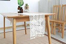 MAFYU Tischläufer,Vintage-Spitze Baumwollspitze