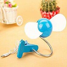 MAFYU Ultra-starken Wind, USB-Ventilator, 360-Grad Drehung, Student, Ventilator, mit clip Sommer Spezial