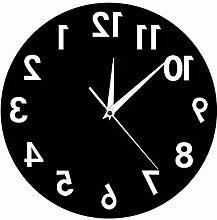 MAFYU Wanduhr,Acryl Spiegel Wandspiegel Uhr