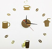 MAFYU Wanduhr,Kaffee-Haferl Diy Uhr Stumm Uhr