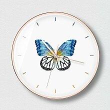 MAFYU Wanduhr,Schmetterling Mute Wanduhr Größe: