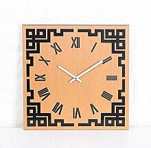 MAFYU Wanduhr,Wand Uhr Holz Wanduhr Digital