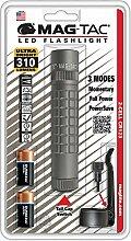 Mag-Lite Mag-Tac LED-Taschenlampe im Tactical-Design, Plain Bezel, 310 Lumen, 13.2 cm mit 3 Modi, grau SG2LRG6