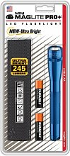 Mag-Lite Mini Pro+ LED Taschenlampe 245 Lumen, ANSI Standard getest, blau SP+P11H