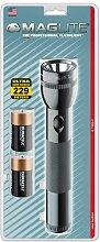 Mag-Lite Stab-Taschenlampe S2DDX6U für 2 Mono-Batterien 25 cm, schwarz inkl. Batterien