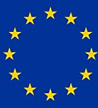 magFlags Banner-Flagge: Europa   Hochformat Fahne
