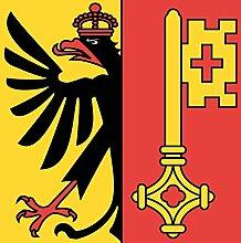 magFlags Flagge: Medium Republik und Kanton Genf |