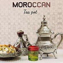 Maghrebi Moroccan Silver Teapot | Engraved Tea
