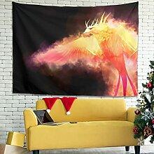 Magiböes Wandbehang Tapisserie Fantasy Feuer