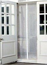 Magic Vorhang Tür Mesh Magnetverschluss Hände frei Fly Bug Mosquito Insektenschutz weiß