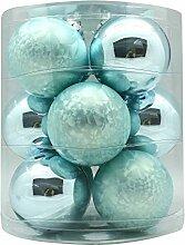 MAGIC Weihnachtskugeln Glas 8cm 12 STK.
