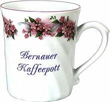 magicaldeco Porzellan gedreht- Tasse, Kaffeepott, Becher - Bernau - Motiv Vergißmeinnich