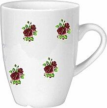 magicaldeco Porzellan - Tasse, Kaffeepott, Becher- - Motiv Rosen gestreu