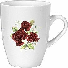 magicaldeco Porzellan - Tasse, Kaffeepott, Becher- - Motiv Rosenstrauß
