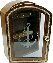 magicaldeco Schlüsselboard mit Glasfront, Holz,