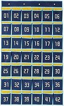 MagiDeal 1 Stück Divider Aufbewahrungsbeutel Kiste für Stift, Batterien, Kopfhörer, Speicherkarte - Blau