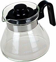 MagiDeal 1 Stück Glas Kaffeekanne Glaskanne, für