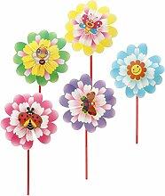 MagiDeal 10 Stück Windrad Blume Windmühle