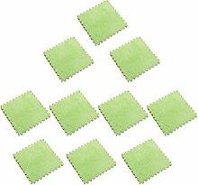 MagiDeal 10pcs 30 x 30cm EVA Schaumstoff Plüschmatte Puzzlematte Kindermatte Bodenmatten Turnmatte - Grün