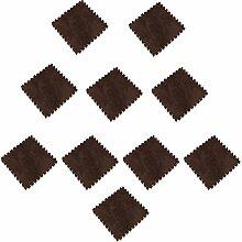MagiDeal 10pcs 30 x 30cm EVA Schaumstoff Plüschmatte Puzzlematte Kindermatte Bodenmatten Turnmatte - Braun
