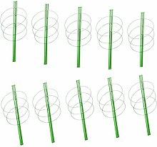 MagiDeal 10pcs Garten Pflanze Unterstützung Pflanzstützen Pflanzstab Rankhilfe Rankstütze 60cm