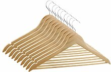 MagiDeal 10pcs Holz Anzug Kleiderbügel