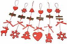 MagiDeal 12 Stücke Weihnachtsbaum Ornamente Weihnachts Stern DIY Hängende Dekoration