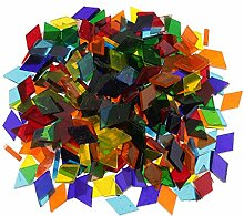 MagiDeal 160g Sortierte Farbe Klare Glas Mosaik