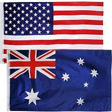 MagiDeal 2 Stück 150X90cm Große Staat Flagge