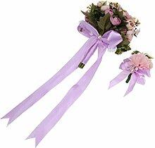 MagiDeal 2 Stück Hochzeit Blumenstrauß