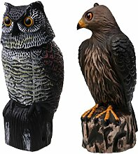 MagiDeal 2 Stück Jagd Lockvogel, Vogelschreck Zimmer Dekoration Gartenfigur Vogelscheuche Taubenschreck Garten Dekofigur
