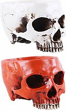 MagiDeal 2 Stück Menschliche Schädel Kopf Design
