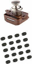 MagiDeal 20×Antike Türscharniere Türband Scharnier+ Schrank Schublade Sicherheitsschloss Verschluss Button Schloss
