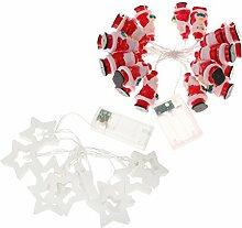 MagiDeal 2m Weihnachtsmann förmig + 2m Stern