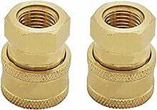 MagiDeal 2pcs 15mm to 3/8 Female Socket Messing Schnellkupplung