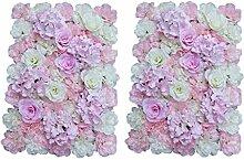 MagiDeal 2pcs Künstliche Seiden Blume Wand, Diy Hochzeit Hauptstraße Dekoration