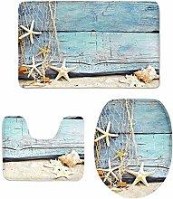 MagiDeal 3 Stück Landschaft Form Badematte