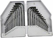 MagiDeal 30 Stück Sechskantschlüssel sätze, Reparatur Werkzeuge mit Aufbewahrungsbox