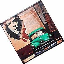 MagiDeal 30x30cm Vintage Metall Blechschilder Wandkunst Plakat Café-Bar Pub , Auto Design - Grün