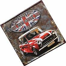 MagiDeal 30x30cm Vintage Metall Blechschilder Wandkunst Plakat Café-Bar Pub , Auto Design - Ro