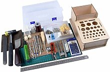 MagiDeal 32er Set Leder Werkzeuge Set
