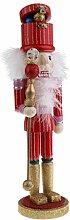 MagiDeal 38cm Handgemalte Soldat / König / Schlagzeuger Nussknacker Figuren Holzpupen Dekoration für Weihnachten Party - Soldat - 2