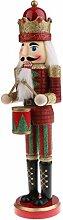 MagiDeal 38cm Handgemalte Soldat / König / Schlagzeuger Nussknacker Figuren Holzpupen Dekoration für Weihnachten Party - Schlagzeuger - 1