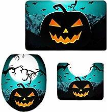 MagiDeal 3pcs Halloween Badematten Set Badezimmer