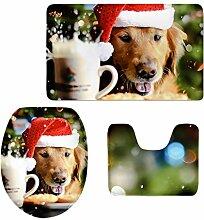 MagiDeal 3pcs Weihnachten Badematten Set