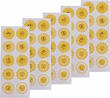 MagiDeal 5 Blätter Runde Aufkleber Sticker
