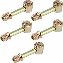 MagiDeal 5 Stk. Möbelverbinder Schrankverbinder, Befestigung Schrauben für Möbel Schrank