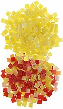 MagiDeal 500 Stück Glas Mosaiksteine zum Mosaik