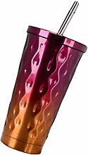 MagiDeal 500ml Edelstahl Vakuum isolierbecher,